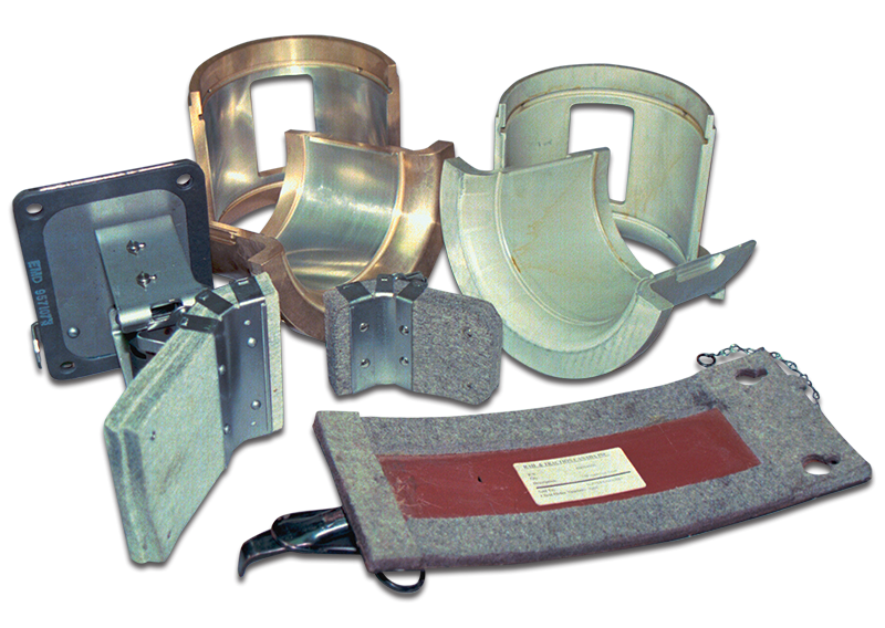 Traction Motor Support Bearings, Oil Wicks & Covers